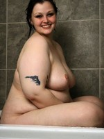 horny bbw babe milla in the shower
