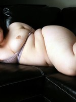 horny bbw milla playing with this dildo