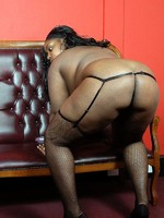 horny big black babe playing with dildo